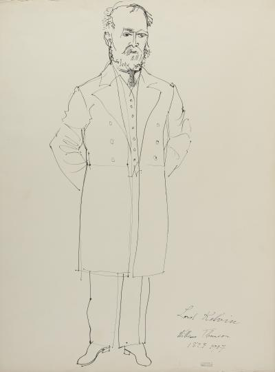 Raoul DUFY - Lord Kelvin, William Thomson (for the Fairy The Fairy Electricity), circa 1937 - Drawing, signed with the stamp