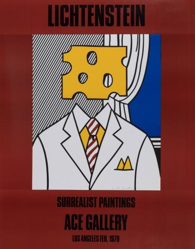 Roy LICHTENSTEIN - Ace Gallery, 1979 - Hand signed offet lithograph