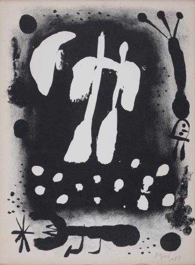 Joan MIRO - Je travaille comme un jardinier, 1953 - Hand signed lithograph