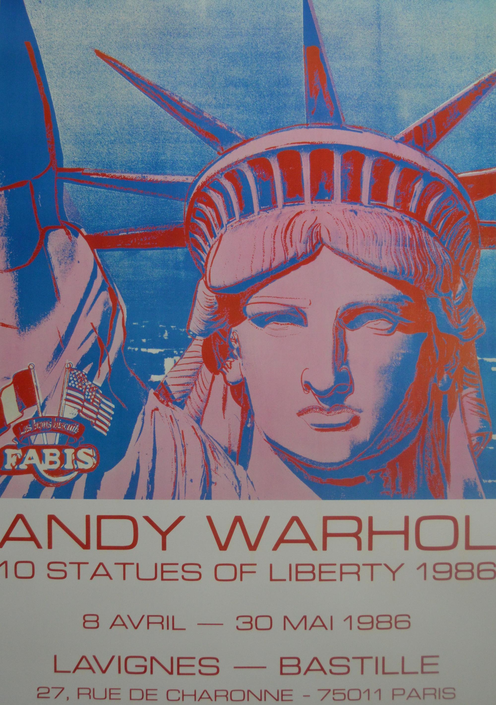 Andy Warhol After 10 Statues Of Liberty 1986 Original Poster Post War Modern Art Plazzart