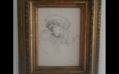 Maximilien Luce 1858/1941. Original drawing in pencil