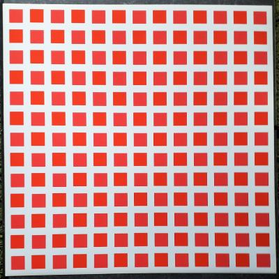 Francois Morellet  - Untitled red