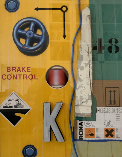 Peter KLASEN - Brake Control - Acrylic on canvas signed